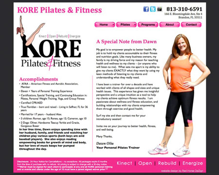 pilates-instructor-personal-trainer-web-design-brandon