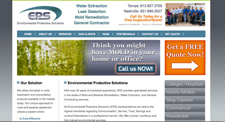 water-leak-solutions-tampa-web-design