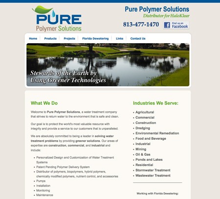 web-site-design-tampa-water-treatment-company